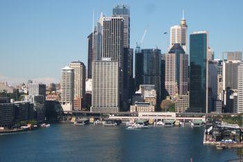 Walking Sydney Harbour Bridge kids stroller