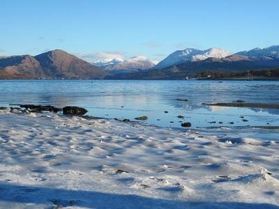 Scotland Snow on Hills