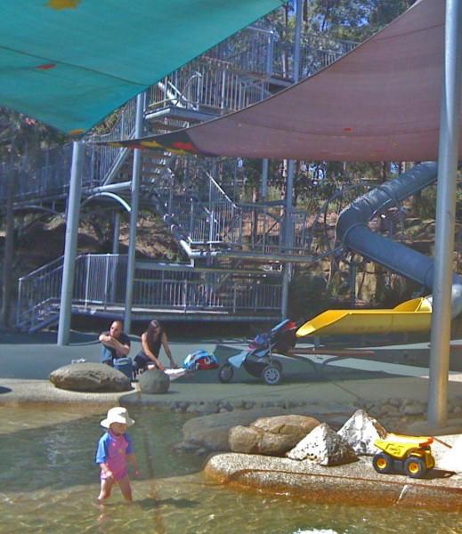 Putney Park playground water play sydney