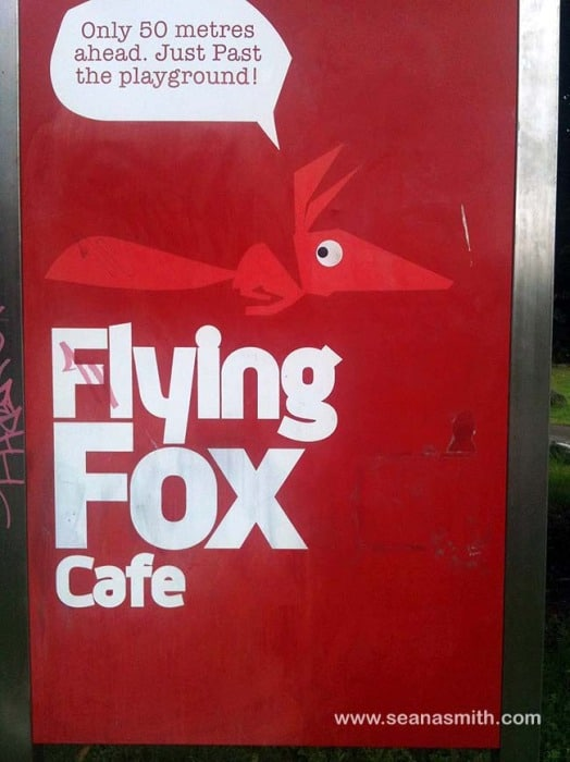 Flying Fox sign