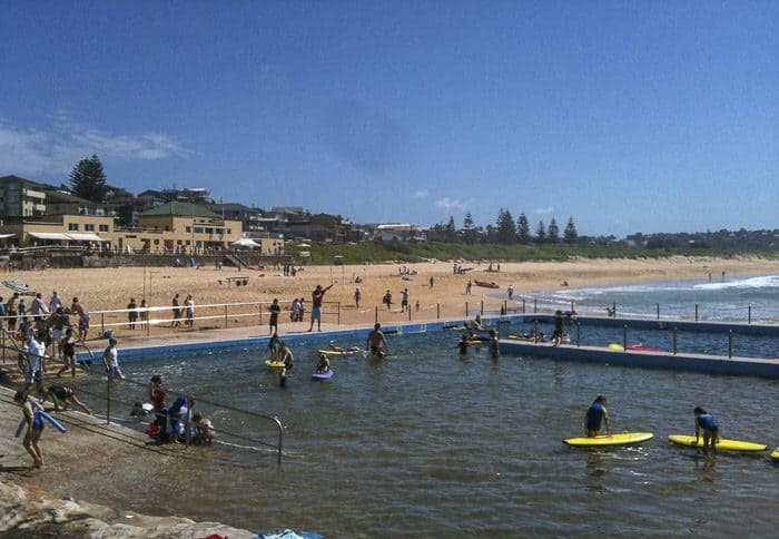 South Curl Curl rock pool beach family things to do