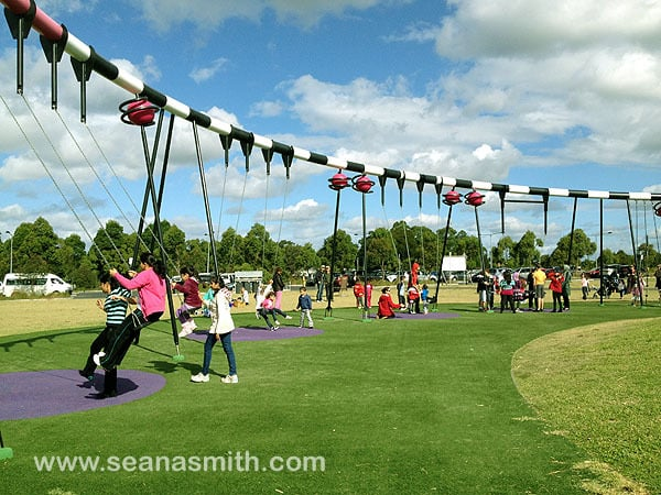 Blaxland Riverside Park swings