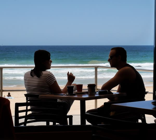 South Curl Curl Cafe beach views from Gusto