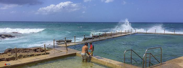 avalon beach NSW rock pool