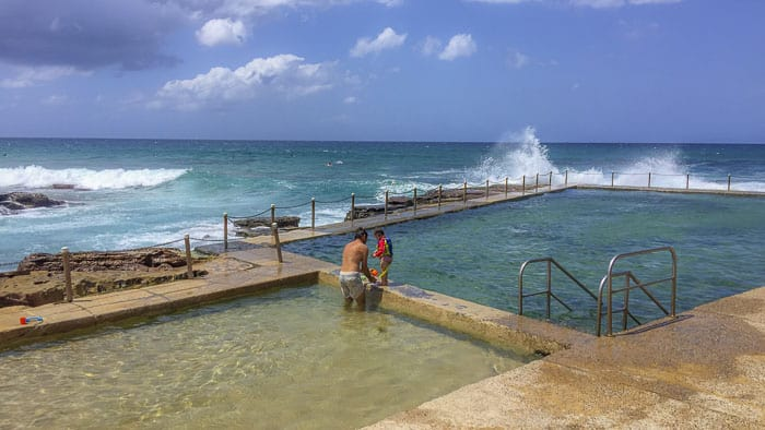 avalon beach rock pool