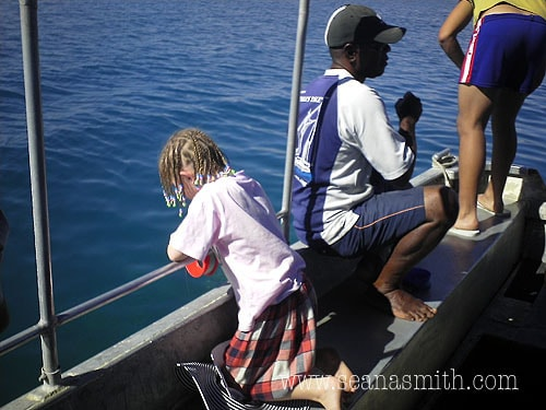 Fiji island day trip fishing