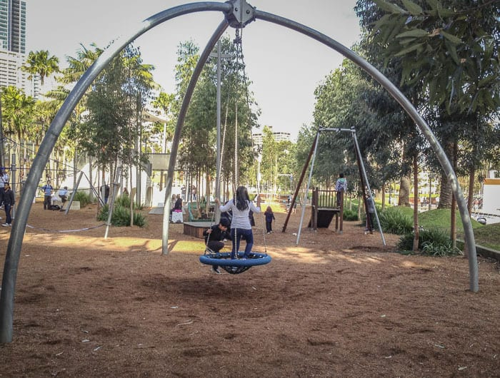 darling quarter playground swings