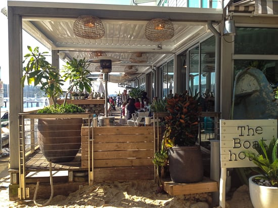 Best Sydney cafes beside playgrounds balmoral boat house
