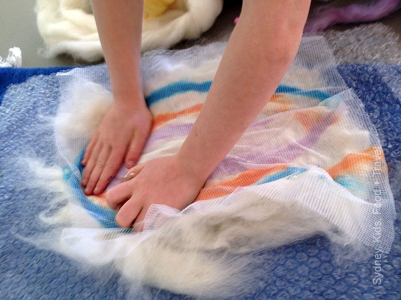 Felting with kids