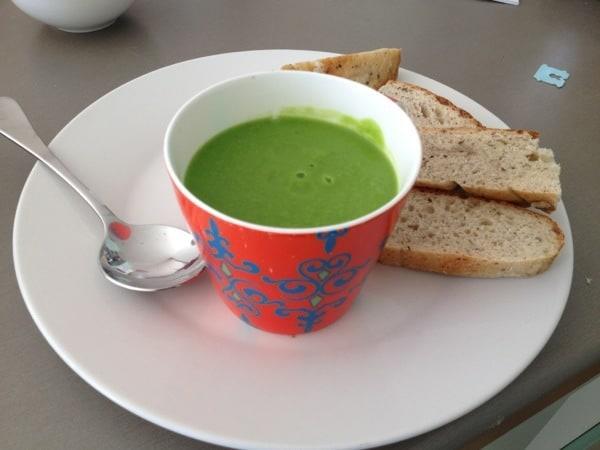 Quick pea soup recipe