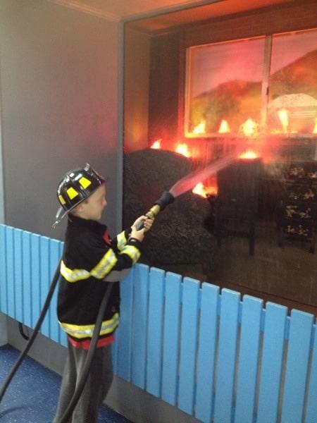 fireman dressups at Wannabees
