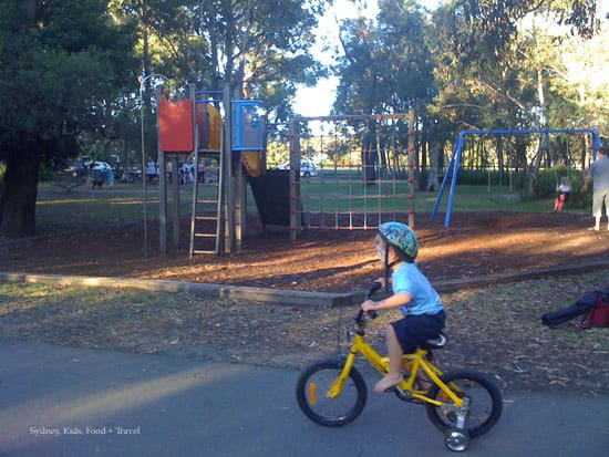 sydney bike tracks for kids