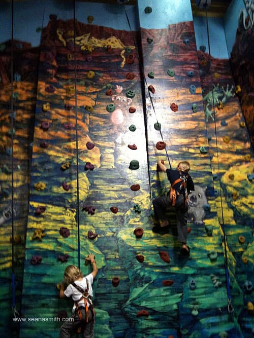 wannabees climbing wall