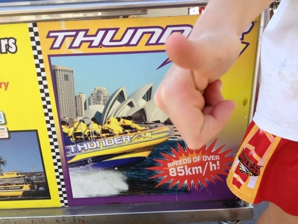 jet boat ride around Sydney Harbour