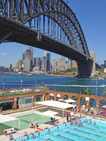 North Sydney Pool and Harbour Bridge