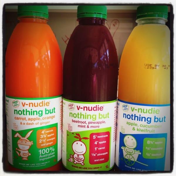 Nudie vegetable and fruit juices