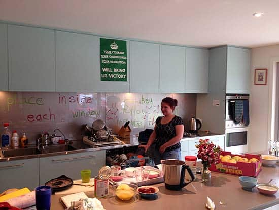 au pair in sydney in kitchen
