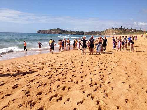 Mona Vale beach ocean swim Can Too