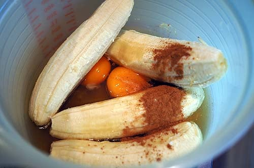 ingrediants ready for healthy banana bread