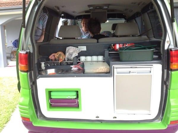 Jucy Rental campervan kitchen