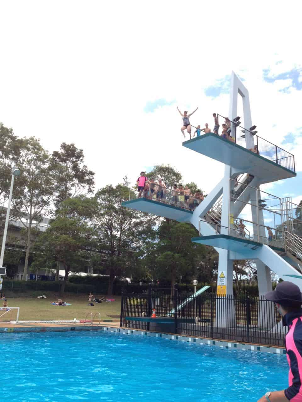 parramatta swimming pool diving boards