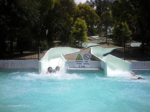 Parramatta Swimming Centre water slides
