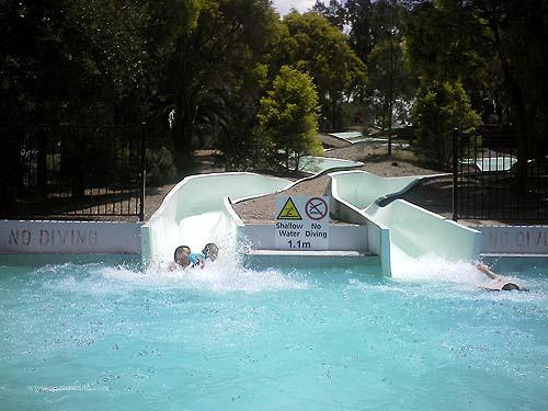 Parramatta Swimming Centre water slides