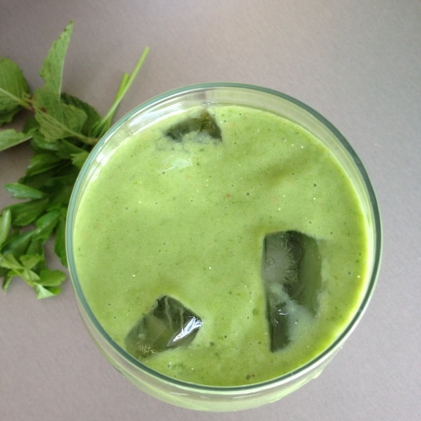 spinach pear avocado protein smoothie