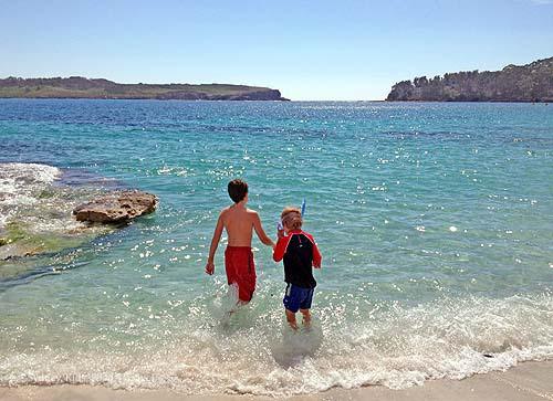 boys snorkel