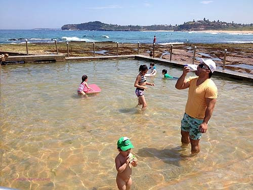Mona Vale beach rock pool