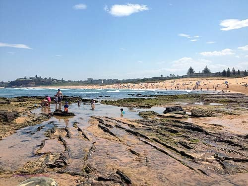 Mona Vale Beach cafe rock pools