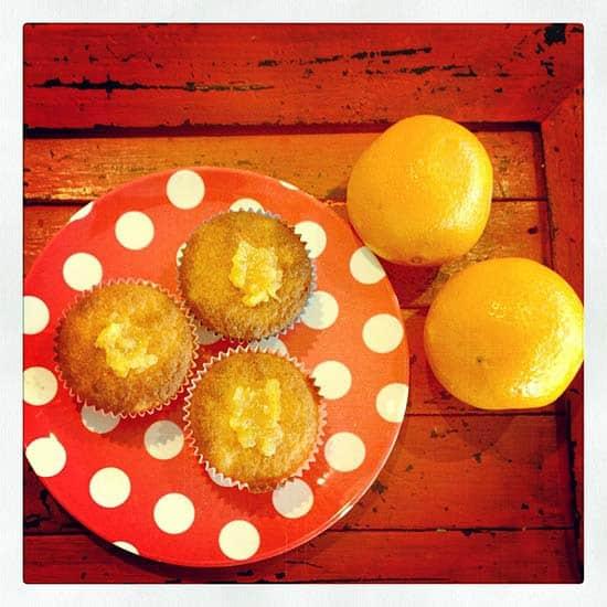 orange marmalade yoghurt muffin