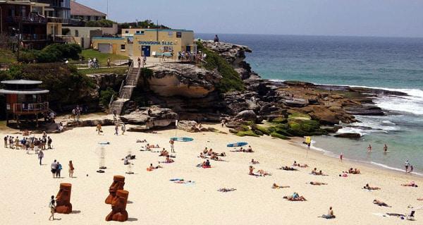 Tamarama beach with sculptures*