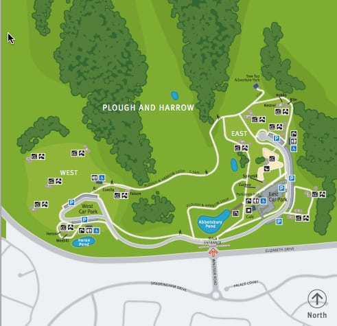 plough and harrow park map