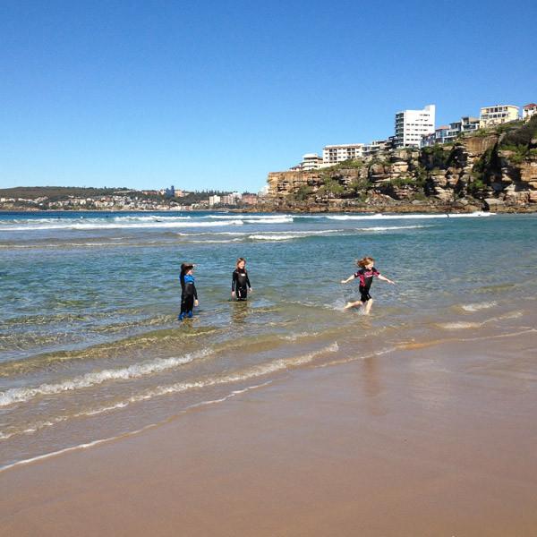 Freshwater beach sydney kids families