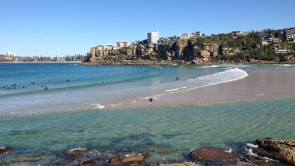 Freshwater beach sydney kids families