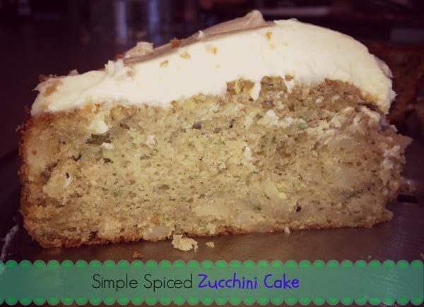 Zucchini cake text