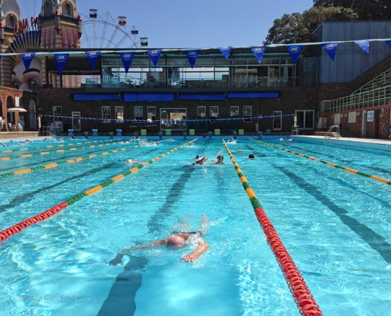 swimmer at North Sydney pool