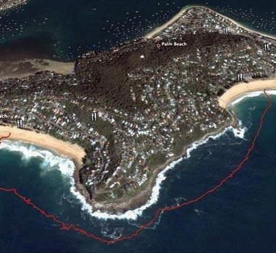 Big Swim route