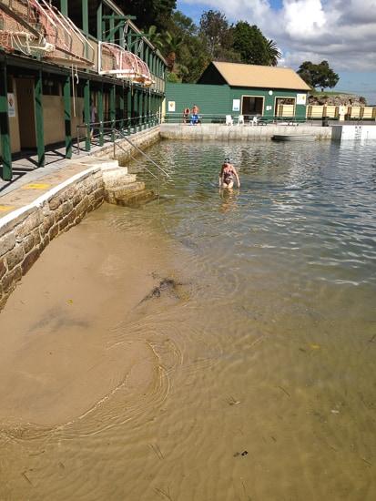 Dawn Fraser Pool baths low tide sand
