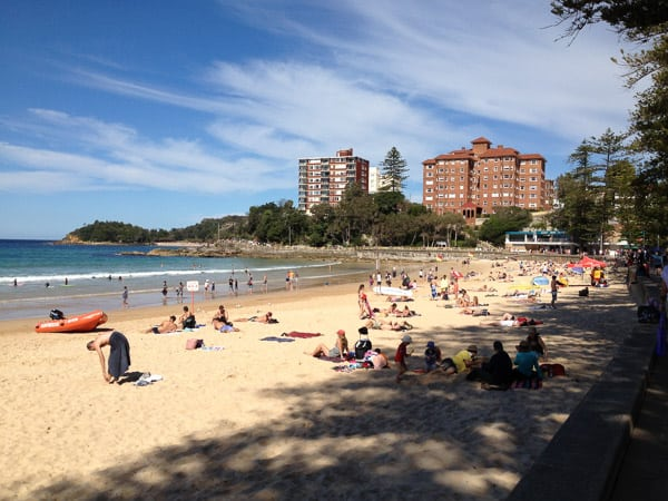 manly beach afternoon shade