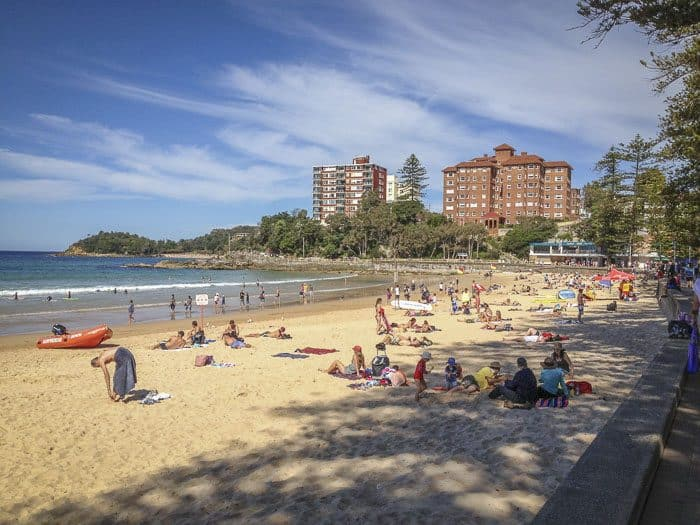 manly beach looking towards Shelly
