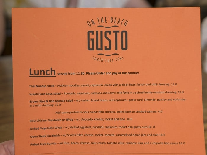Gusto On the Beach South Curl Curl 700