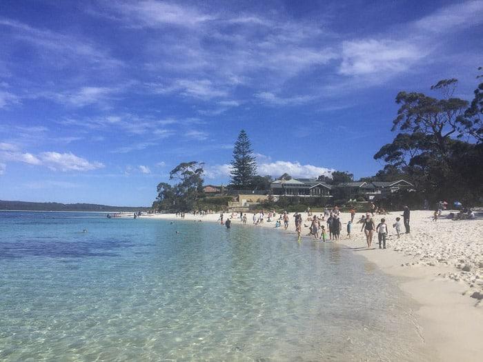 white sand walk hyams beach