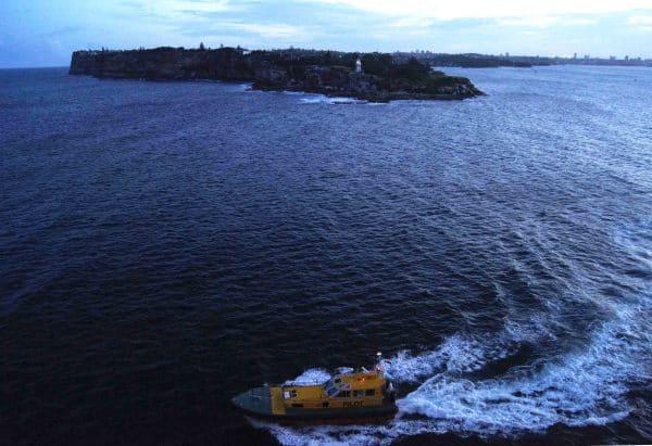 Pilot ship at Sydney Heads