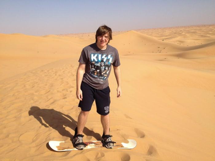 Dubai Sandboard Camel Riding Tour-4