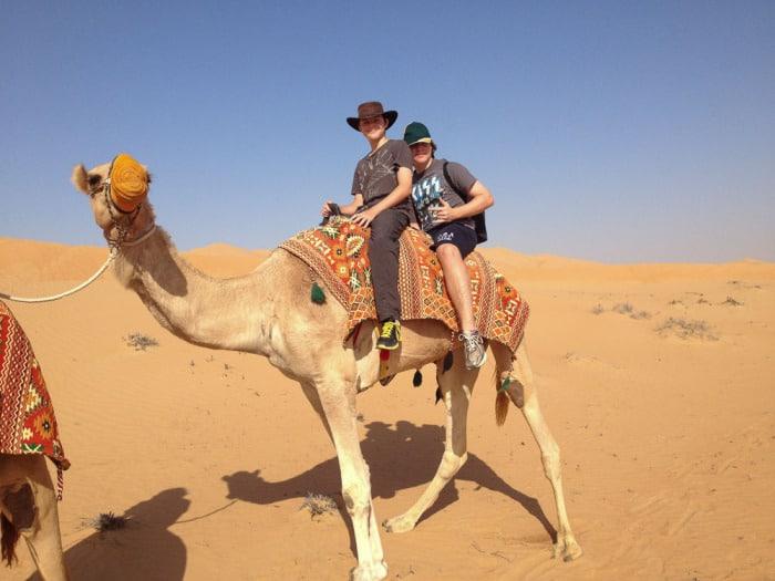Dubai Sandboard Camel Riding Tour-7