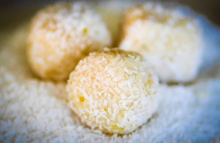Thermomix Lemon + Coconut Balls