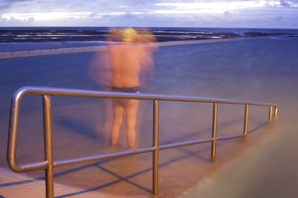 Sunrise swimmer at North Narrabeen Rock Pool last Sunday