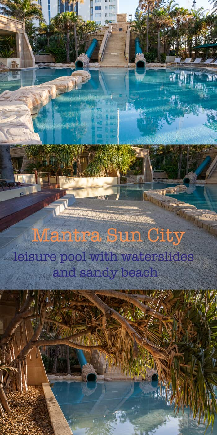 Mantra Sun City water slide pool Surfers paradise